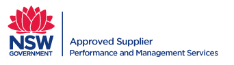 NSW Government / Performance and Management Services Approved Supplier logo